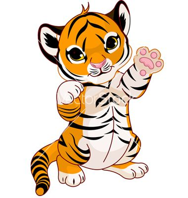 tiger for thank you card just add the hat and adjust so paw is on it rh pinterest com  tiger cub clipart black and white