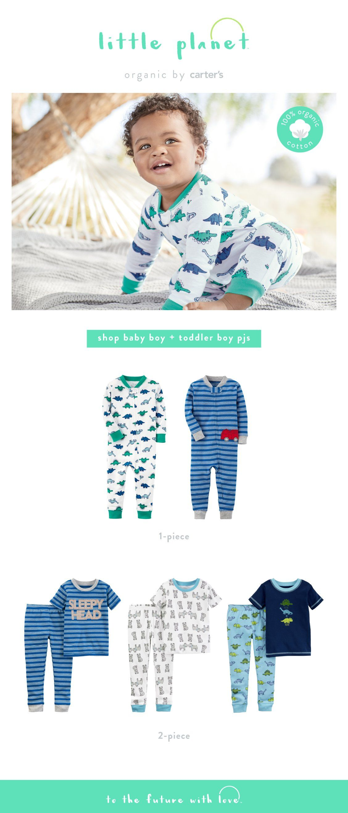 1ba54a031 Shop baby boy and toddler boy 100% organic cotton pjs.