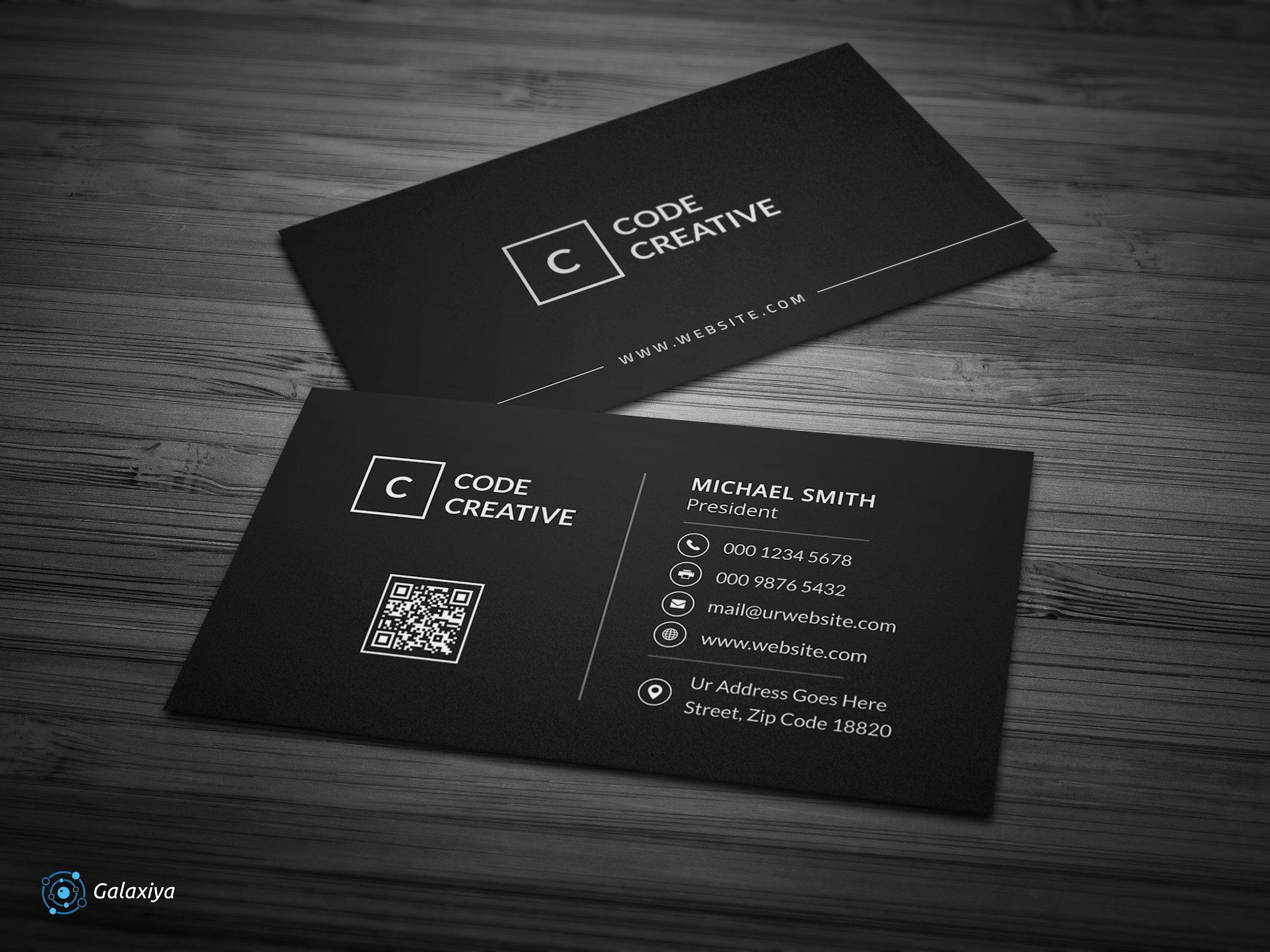 Modern Dark Pixels Business Cards Create Business Cards Modern Business Cards Business Card Template Design