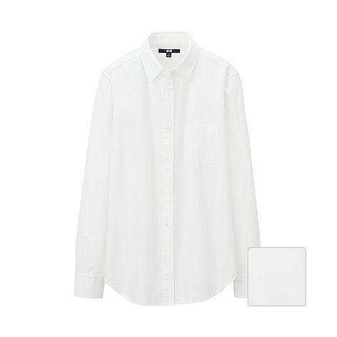 WOMEN Denim Long Sleeve Shirt Dress