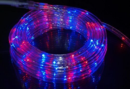 Izzy creation 177ft bicolor red and blue led flexible rope light kit izzy creation 177ft bicolor red and blue led flexible rope light kit indoor outdoor lighting home garden patio shop windows 4th of july party even aloadofball Gallery