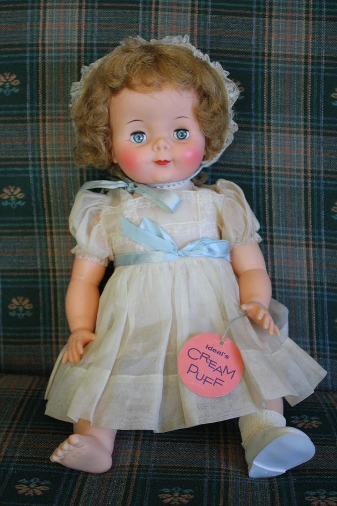 Vintage 1960 S Ideal Cream Puff Doll Nm W Hang Tag Vinyl