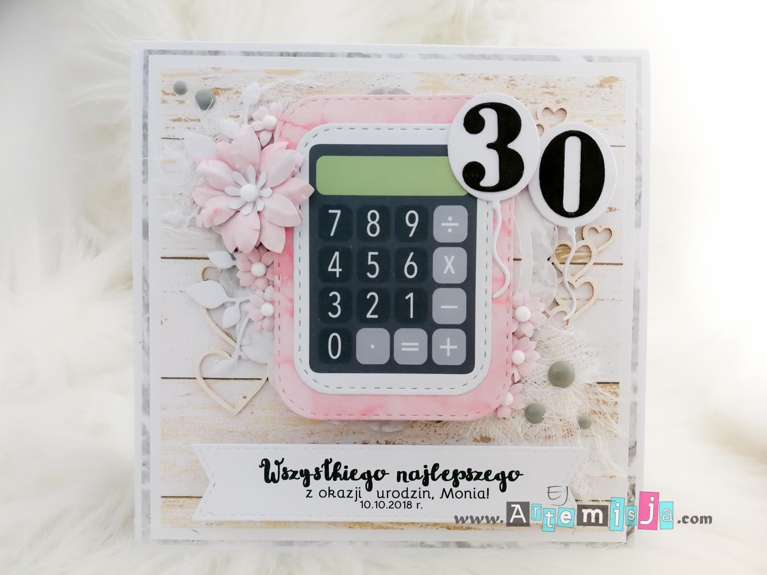 Kartka Urodzinowa Z Kalkulatorem Birthday Card With Calculator