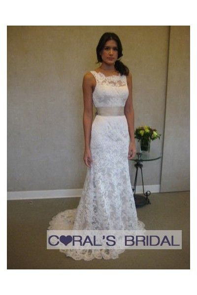 V Back Full Lace Wedding Dress With Sash Wd09032 Just Needs A Black