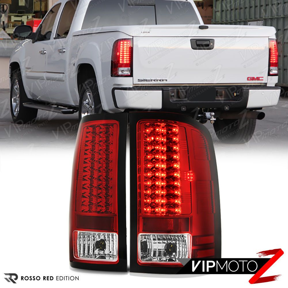 Premium For 07 13 Gmc Sierra 1500 2500 3500 Hd Factory Red Led