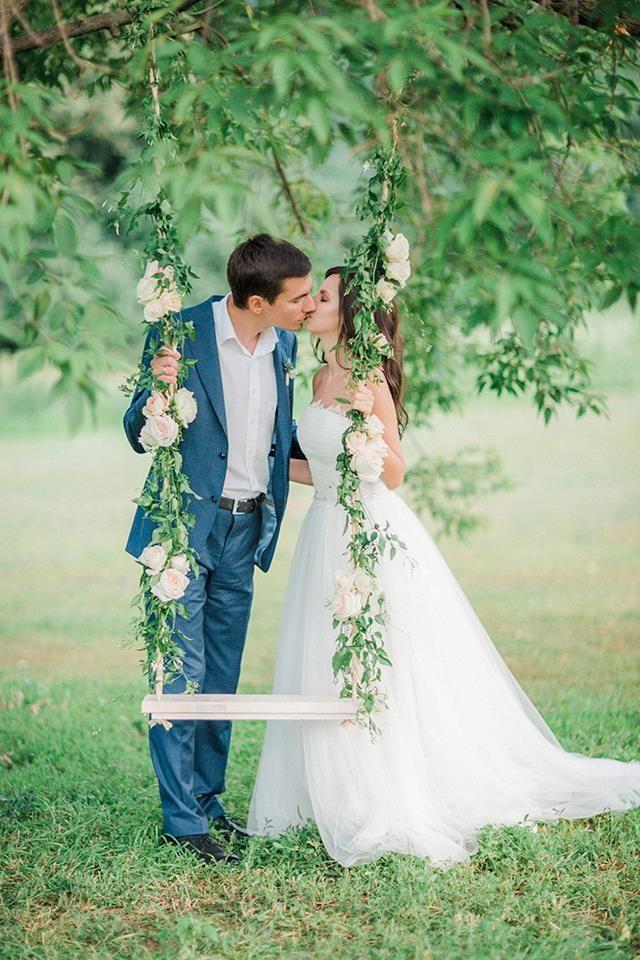 Swing With Flowers Wedding Dresses Wedding Swing Long