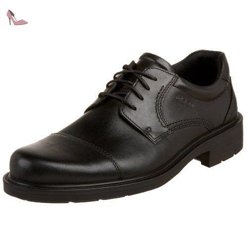 Ecco , Chaussures de ville à lacets pour homme - Noir - Noir, 41 EU