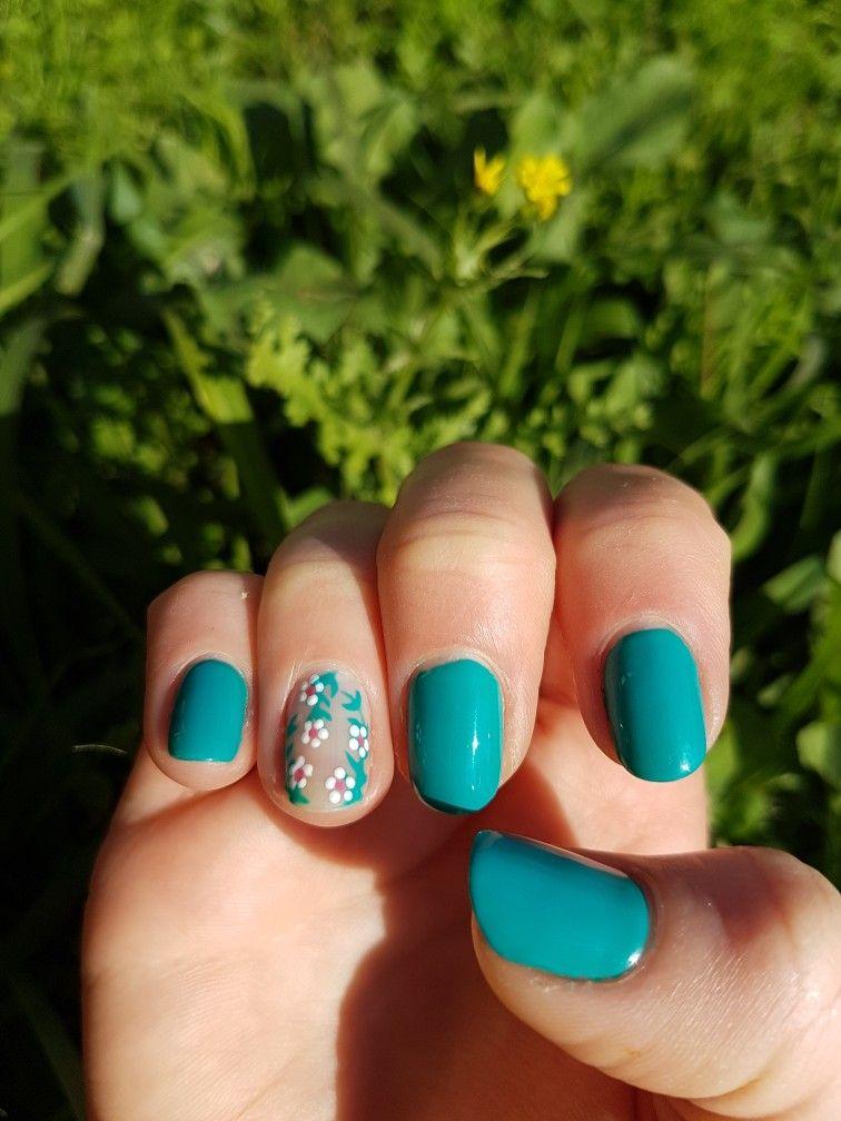 gel nails inspo #nails #gel #handdrawn #madamglam #flowers | nails ...