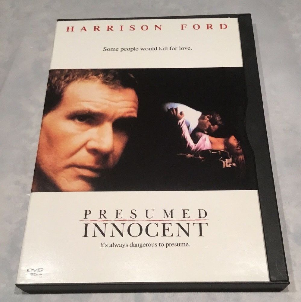 Movie Presumed Innocent Unique Presumed Innocent Movie Dvd 1997 Harrison Ford Rated R  Harrison .