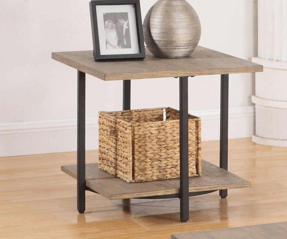 f6146eb8be21 Look for Mcquiston End Table by Mercury Row