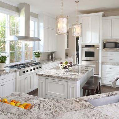 Granite Countertop With White Cabinets Design Ideas, Pictures