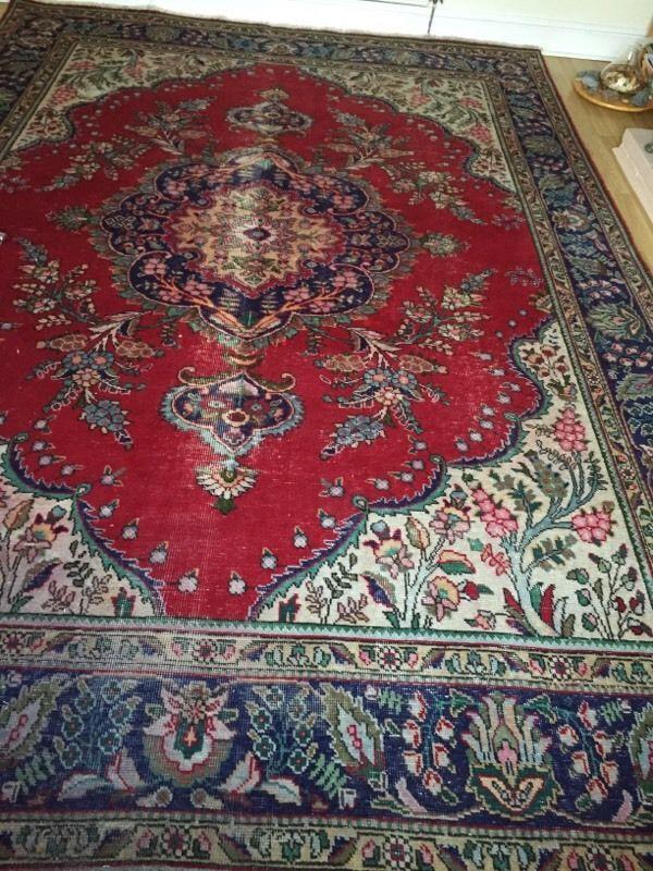 Afghan rug on Gumtree. Mainly red and blue used afghan rug