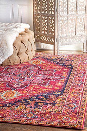 "nuloom fancy persian vonda rug, 6' 7"" x 9', pink nuloom https://www"