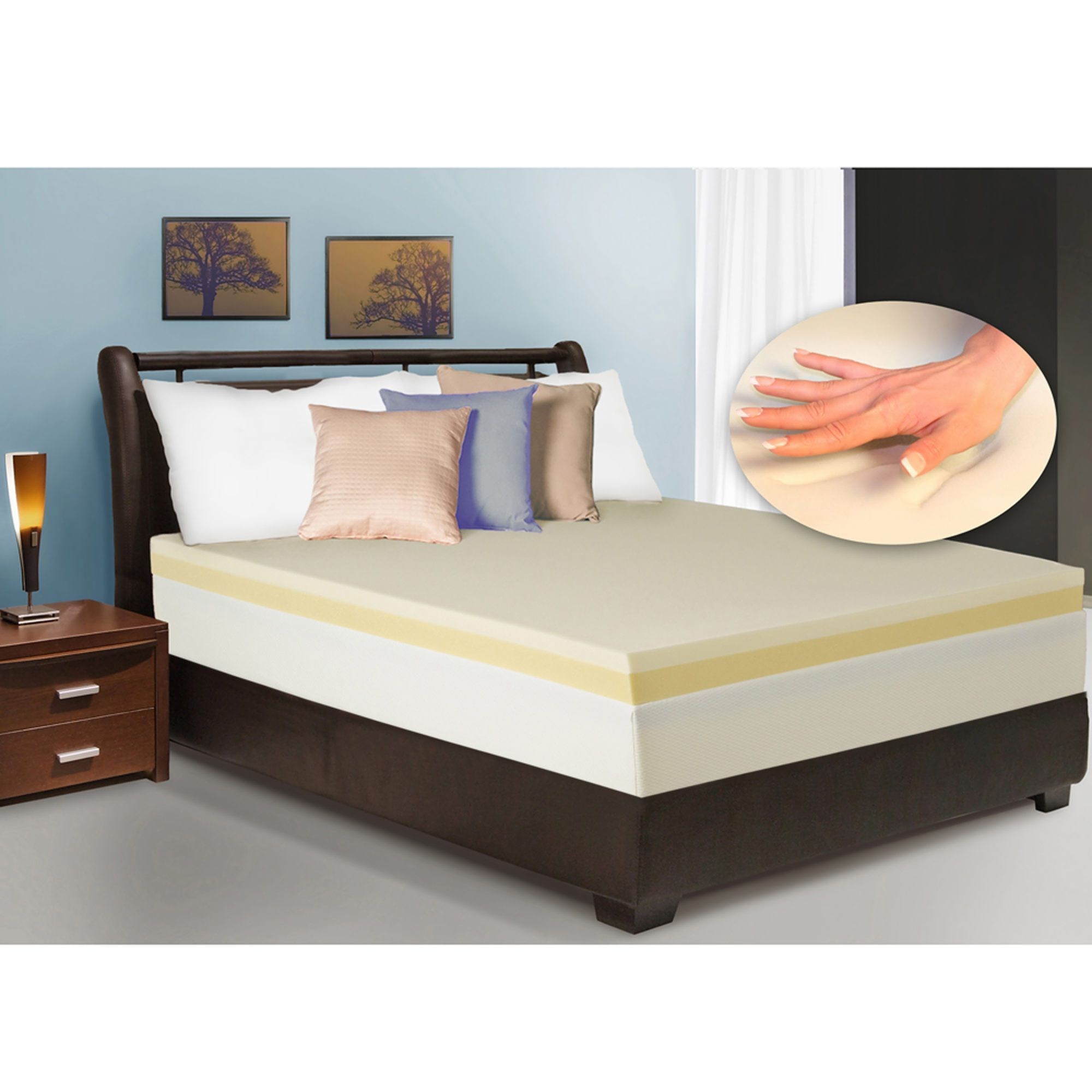 "Cradlesoft 4"" Dual Layer Memory Foam King Size Revitalizer Plus"