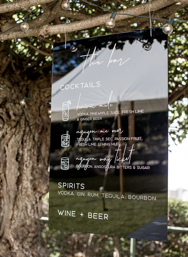 The Coolest Acrylic Wedding Signage - Inspired By This