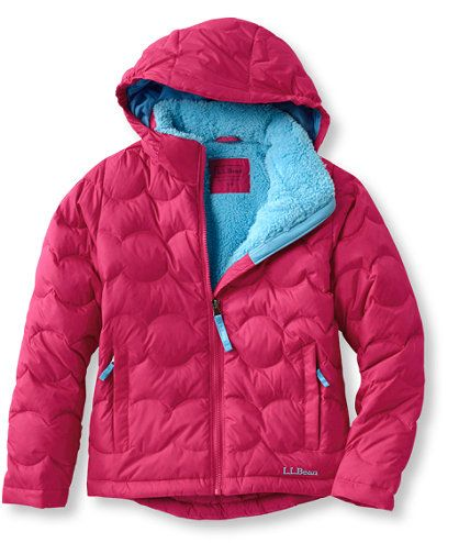 "Our bestselling down outerwear is insulated with innovative, highly water-repellent DownTek™ 650-fill down that maintains its loft even in wet conditions, so kids will stay toasty warm and dry no matter how long they play outside. We've included a wonderfully warm and cozy polyester fleece lining you won't find anywhere else, and perhaps what prompted our fit model to state ""I want to buy this coat right now.""   </P><P>Shell features nylon ripstop fabric that's rugged enough for winter ..."