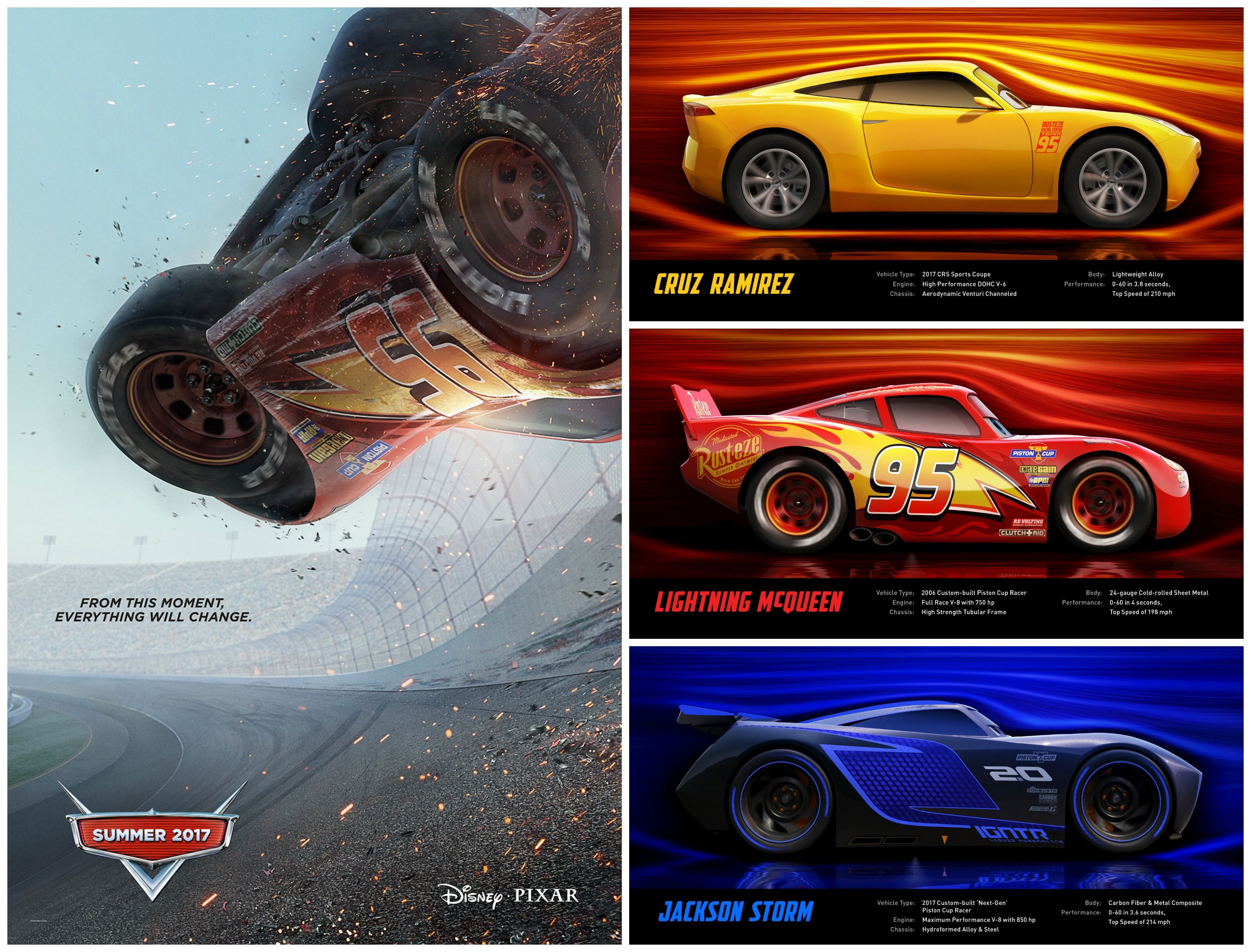 Meet Cars 3 Characters Voiced By Owen Wilson Cristela Alonzo And
