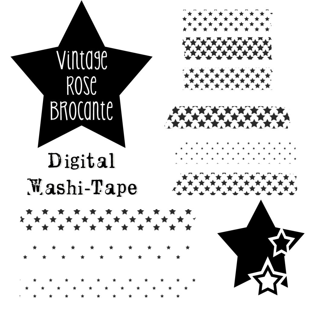 Digital washi tape stars to use for your digital - Decorador de fotos gratis ...