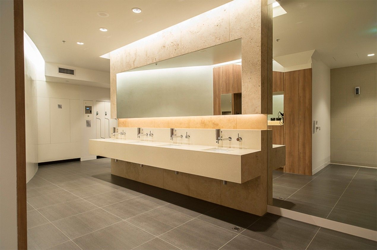 Modern mall restrooms designs google search ba os for Room design with bathroom