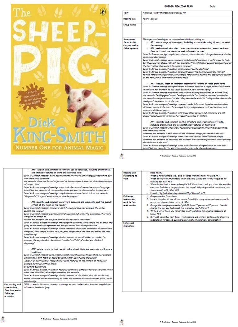 Workbooks the twits worksheets ks2 : The Sheep Pig Guided Reading Plans | Teaching stuff | Pinterest ...