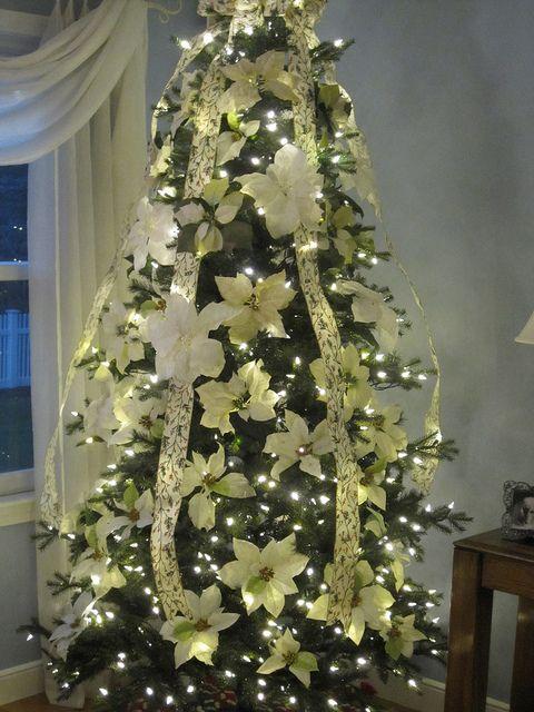 Barbara Wernli Collins Beautiful Christmas Decorations Poinsettia Tree Beautiful Christmas