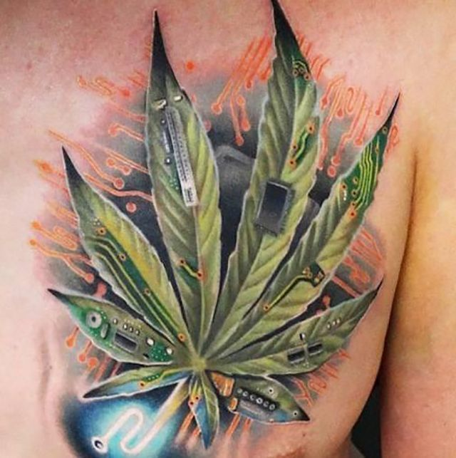 Marijuana tattoo google search weed face tattoos for Tattoo of weed leaf