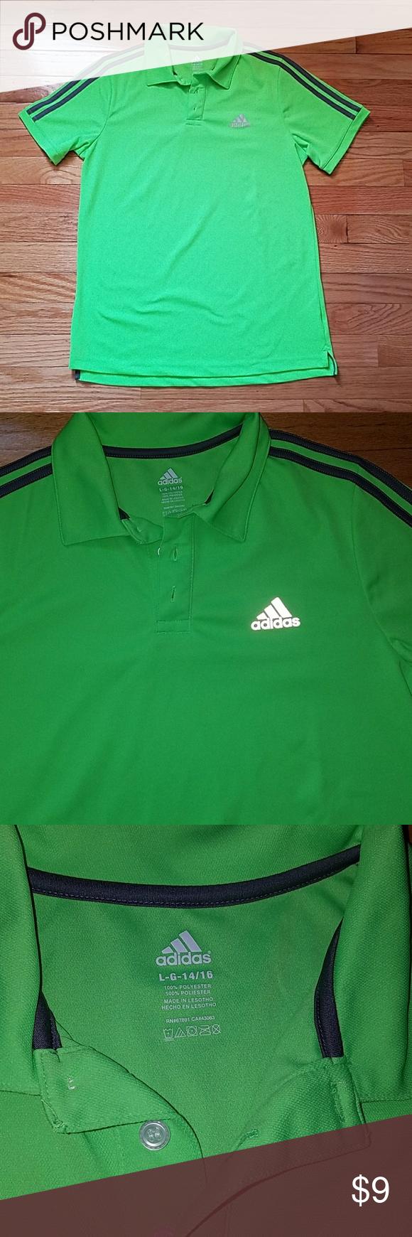 aaba4cc7 Adidas boys golf shirt NEON GREEN Adidas boys golf shirt. Awesome  condition. Super clean