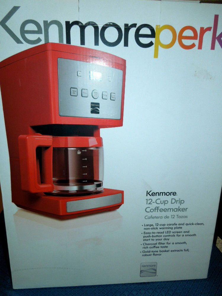 Kenmore Perk 12 Cup Drip Coffee Maker Model 08 04603 Color Red Coffee Maker Drip Coffee Maker Kenmore