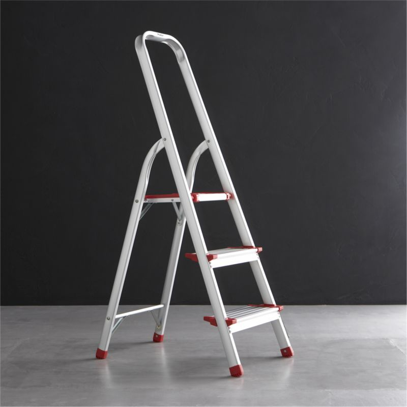 Easily Access Items Out Of Reach With Step Stools From Crate And Barrel Browse Rolling And Folding Step Stools In A Variety Ladder 3 Step Ladder
