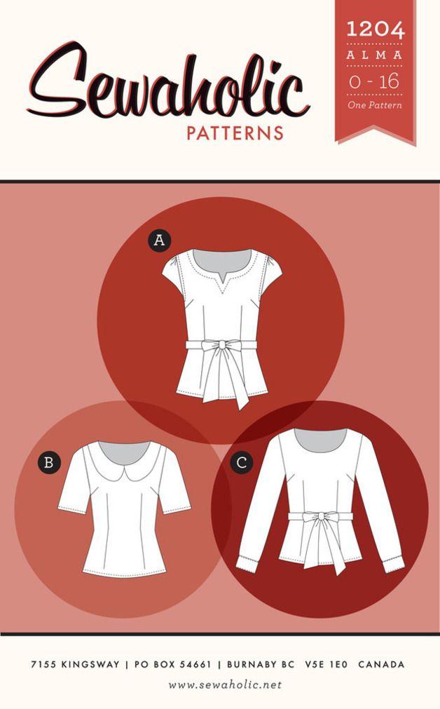 Schnittmuster Bluse: Sewaholic Alma Blouse   patterns   Pinterest ...