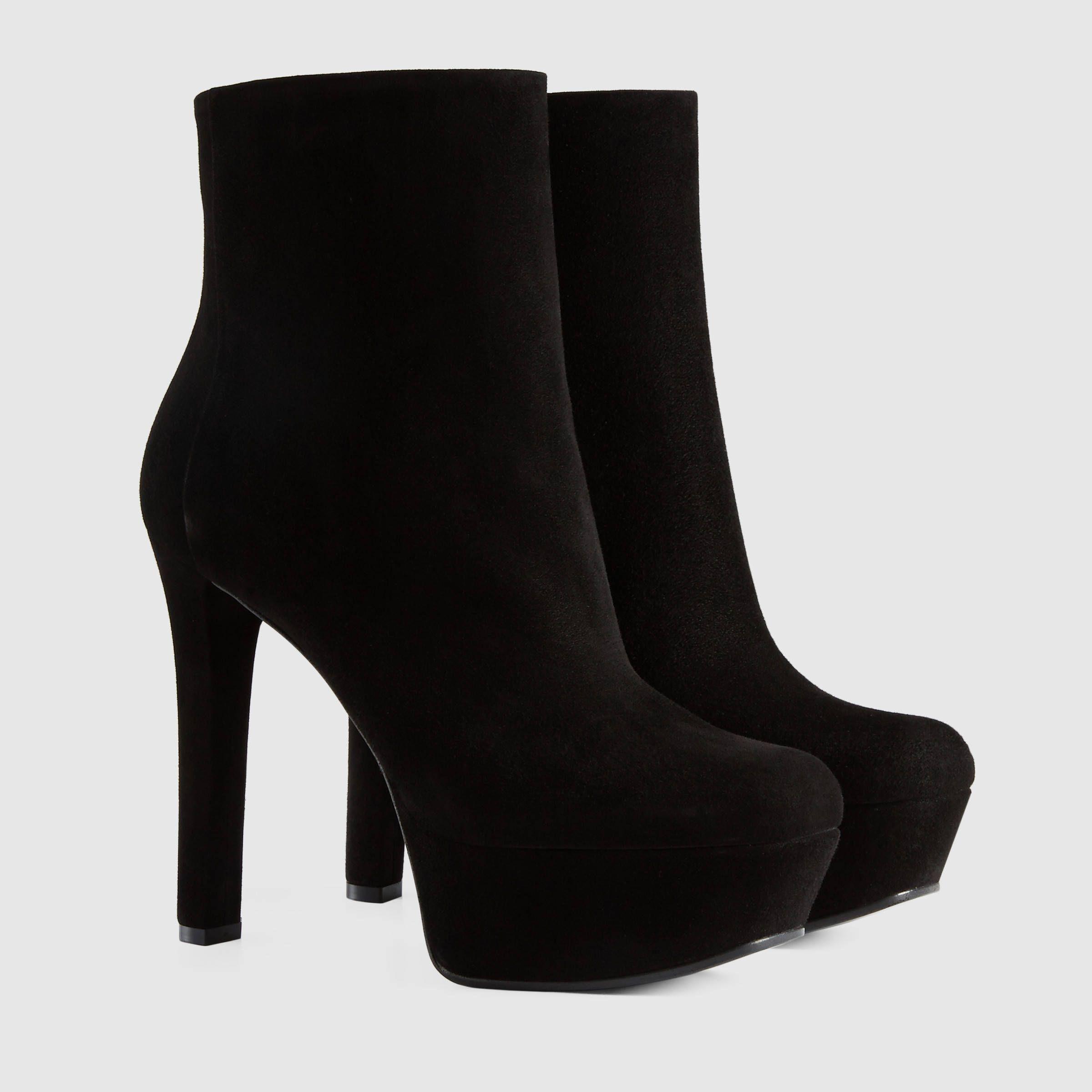 348f34da8714 Gucci Women - Leila suede platform ankle boot -  995
