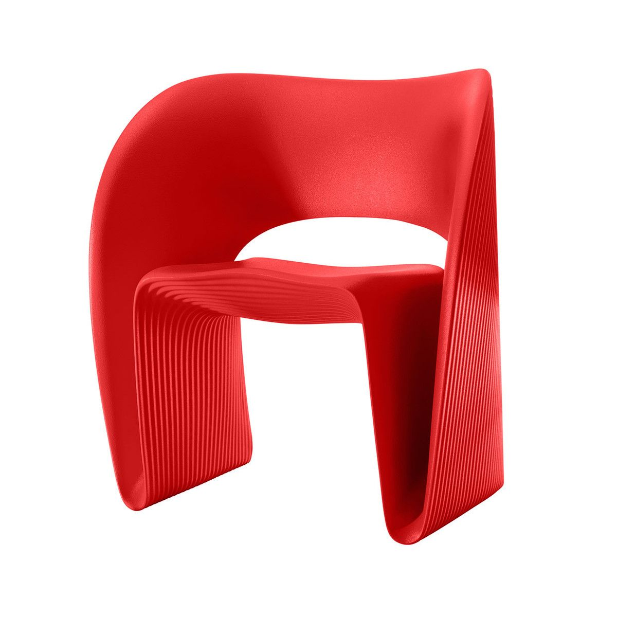 When world famous architect, designer and professor Ron Arad created his Raviolo Chair he had two things in mind: style and function. With its brightly coloured frame and innovative design, it's a joy to sit on, and is designed to be used (and admired) both inside the house or out on the patio. Dinner party or garden party, the guest of honour has arrived.    eu.Fab.com | Raviolo Chair Red