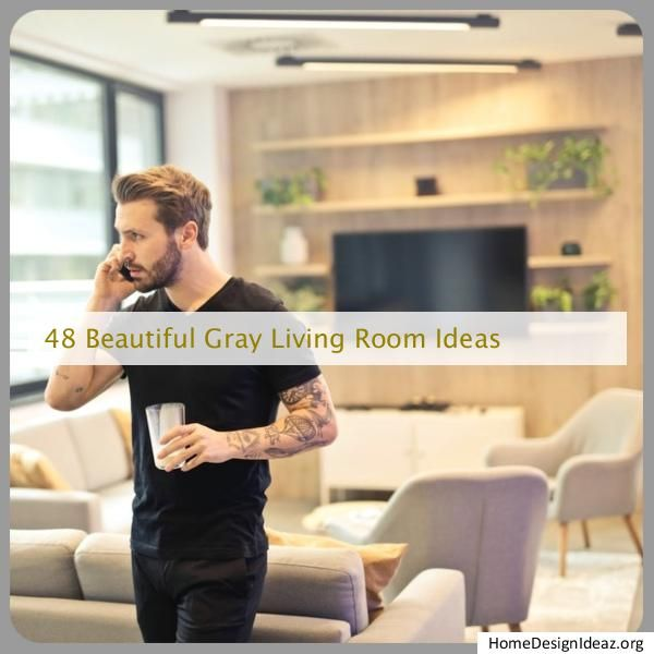 gray living room ideas exposed brick
