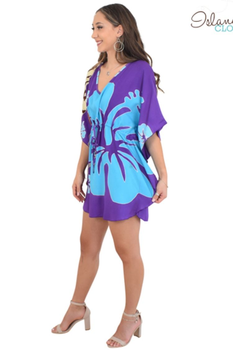 a1da6eee949cd ISLAND STYLE CLOTHING Gorgeous Ladies Kaftan / Poncho Purple Shells ...