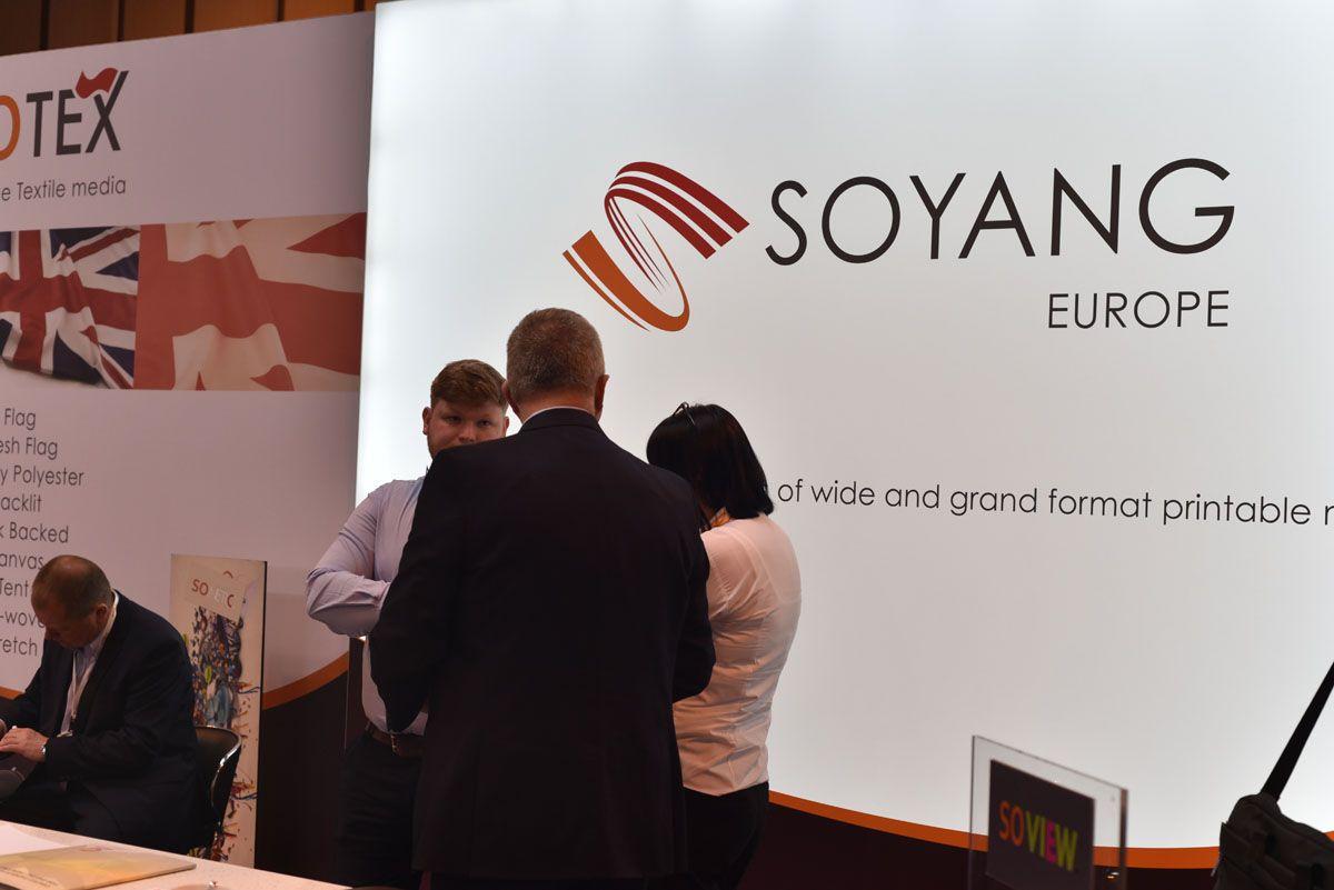 Soyangeurope Stand At Sduk E Textiles Textile Medium Company Logo