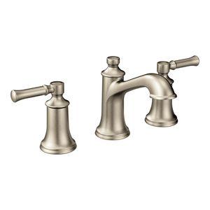 Dartmoor Brushed Nickel Two Handle High Arc Bathroom Faucet       Moen