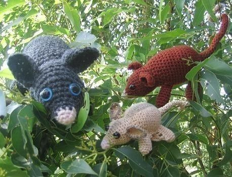 Pesky Possums crochet patterns - Ring tail, brush tail and sugar glider on Etsy, $5.00 AUD