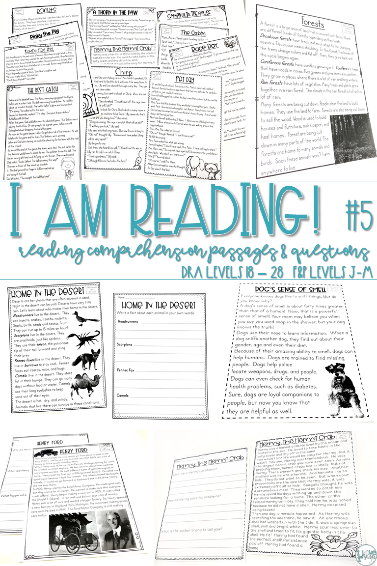 - Reading Comprehension Passages And Questions 2nd Grade Set 5