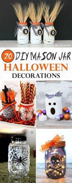 20 Amazing Mason Jar Halloween Decorations You Can Make Yourself #masonjardiy