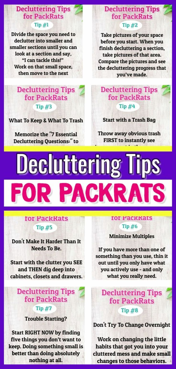8 Decluttering Tips for Hoarders & Pack Rats - Simple Clutter Control Help #declutter