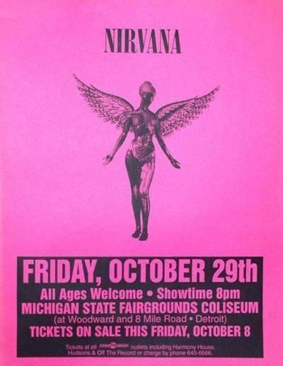 Nirvana gig pink poster