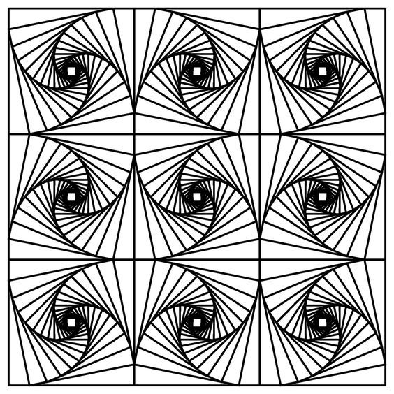 Optical Illusions Adult Coloring Pages - Enjoy Coloring - Google\'da ...