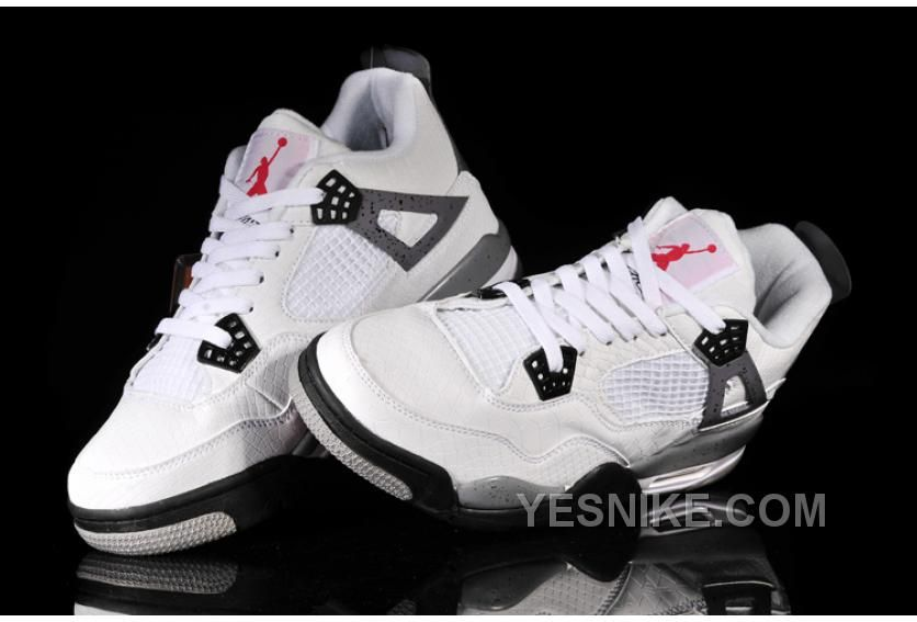 promo code 503e3 a1a61 Big Discount! 66% OFF! Nike Air Jordan 4 (IV) Homme Blanc