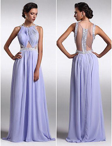 97cffcf352 Vestido de Fiesta Lavanda Largo Escote en A   Vestidos de Fiesta Baratos  Blog