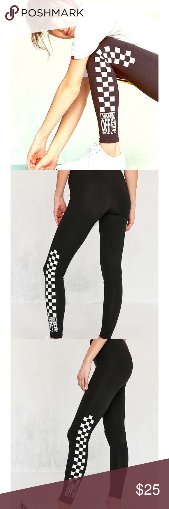 df58b435a0e02 Vans Old Skool Checkered leggings SZ XS These are an Urban Outfitters  exclusive just purchased 2 weeks ago 🖤 them! Vans Pants Leggings
