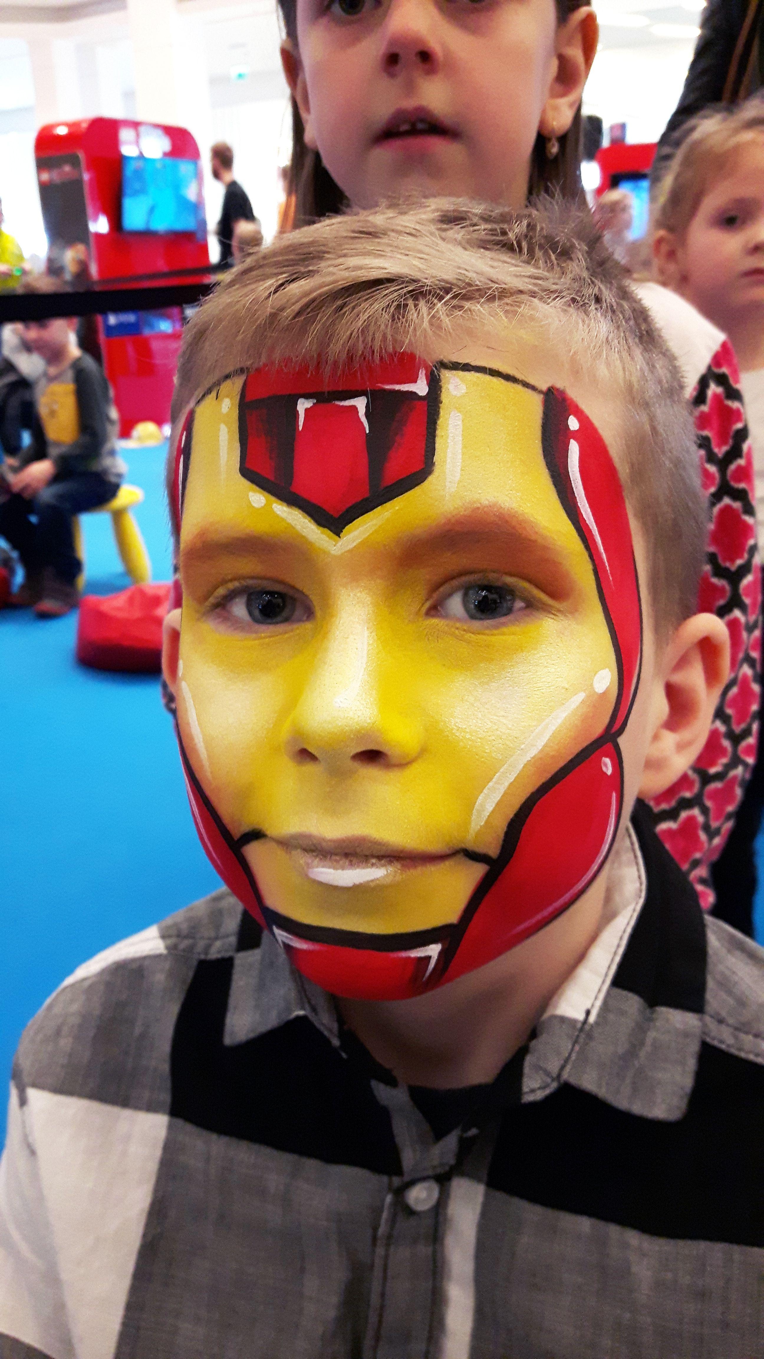 Iron Man Face Paint Superhero Face Painting Face Painting Halloween Iron Man Face Paint