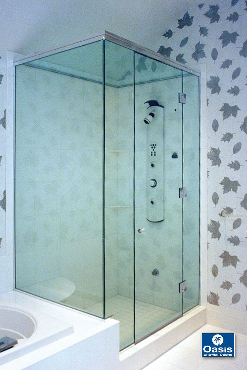 Frameless Glass Shower Doors With Images Glass Shower Doors