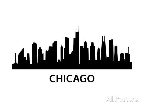 Skyline Chicago Posters Unkreatives Allposters Com Chicago Skyline Chicago Skyline Silhouette Chicago Skyline Tattoo