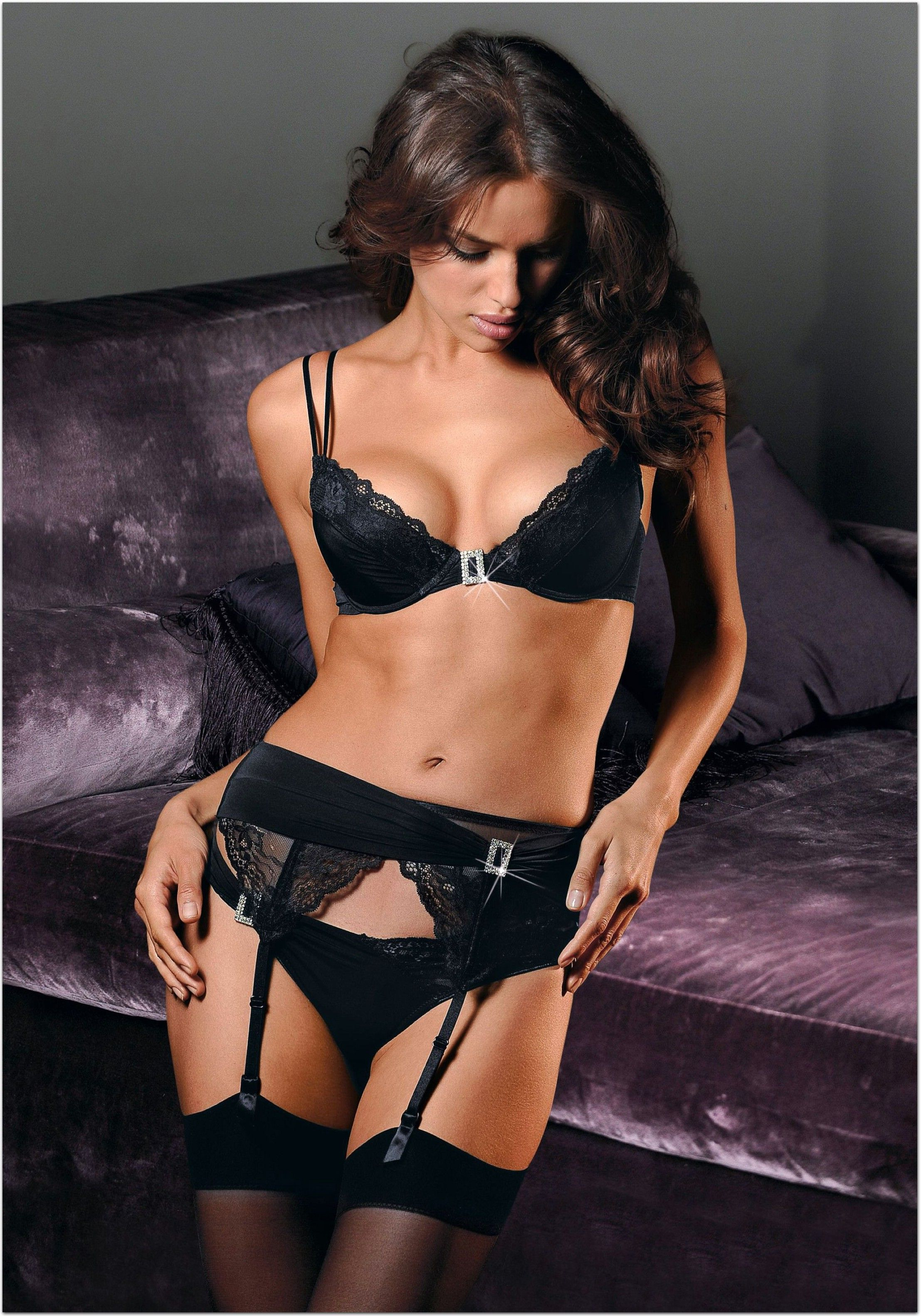62af54d7e Irina Shayk - Diamante buckle underwear set
