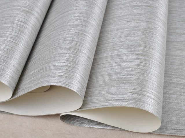 Vertical Texture Metallic Silver Faux Grasscloth Vinyl Modern Wall Paper Straw Glossy Silver Grasscloth Wallpaper Grasscloth Wallpaper Wallpaper Walls Bedroom